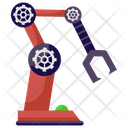 Hydraulic Arm Robot Technology Industrial Arm Icon