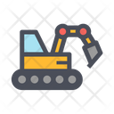 Hydraulic Excavator Excavator Digger Icon