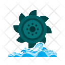 Hydro Power Turbine Icon