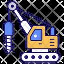 Hydro Drilling Construction Architecture Icon