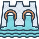 Hydro Power Dam Water Icon