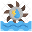 Hydro Power Ecology And Environment Green Energy Icon