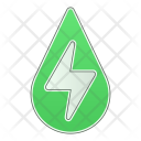 Hydropower Drop Green Icon