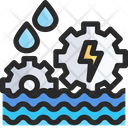 Hydroelectricity Water Energy Turbine Icon