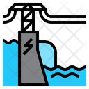 Ielectric Dam Hydroelectricity Icon