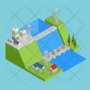 Hydroelectricity Hydro Generator Icon