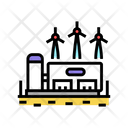 Hydrogen Manufacturing Manufactoring Manufacturing Icon