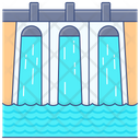Water Power Hydropower Hydroelectricity Icon