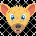 Baby Hyena Face Icon