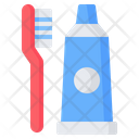 Toothbrush Tooth Paste Icon