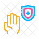 Hand Isolated Set Icon