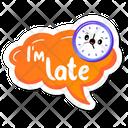 I Am Late Icon