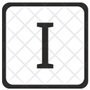 I Uppercase Letter Icon