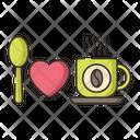 I Love Coffee Hot Coffee Love Icon