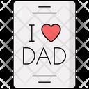 I Love Dad Dad Daddy Icon