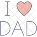 I Love Dad Fathers Day Father Icon