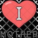 I Love Mom Love Mom Mother Icon