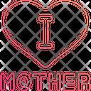 I Love Mom Icon