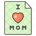 Mothercard Wish Love Icon