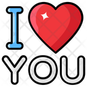 I Love You Magical Words Heart Sign Icon