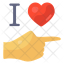 I Love You Hand Gesture Romantic Gesture Icon