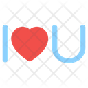 I Love You Romantic Words Magical Words Icon