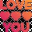 I Love You Love Sign Feelings Icon