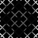 Ice Crystal Snowflake Icon