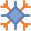 Ice Crystal Snowflake Icon