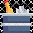 Ice Bucket Ice Box Beer Icon