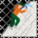 Ice Climbing Icon