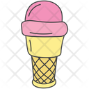 Ice Cream Scoops Ice Cream Frozen Food Icon