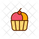 Ice Cream Filled Color Icon