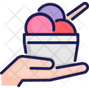 Ice Cream Sweet Holding Icon