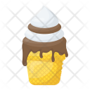 Dripping Ice Cream Chocolate Icon