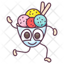 Ice Cream Scoop Ice Cream Ice Cream Bowl Icon