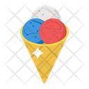 Gelato Ice Cream Summer Dessert Icon