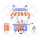 Ice Cream Ice Cream Scoops Ice Cream Cart Icon