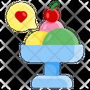 Flat Cream Summer Icon