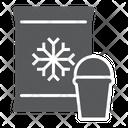 Frozen Food Product Ice Cream Supermarket Department Icon