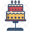 Ice Cream Cake Pastry Icon