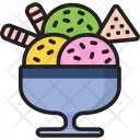 Ice Cream Pack Chocolate Chips Icon