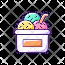 Ice Cream Cup Sundae Icon