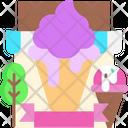 Ice Cream Banner Icon