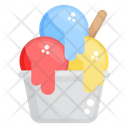 Ice Cream Scoops Ice Cream Cup Frozen Food Icon
