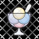 Icecream Bowl Sweet Icon