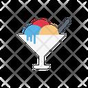 Icecream Bowl Spoon Icon