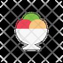 Icecream Bowl Sweets Icon