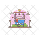 Ice Cream Stall Ice Cream Scoops Ice Cream Cart Icon