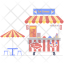 Ice Cream Cart Ice Cream Scoops Food Cart Icon